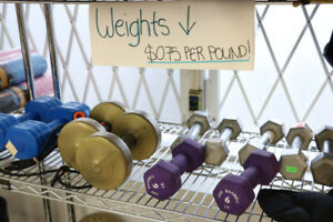 Selection of Weights $0.75 Per Pound (#325)
