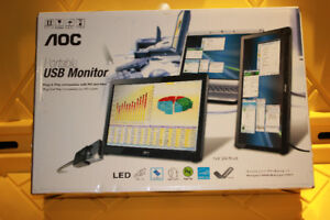 AOC  15.6 Inch USB Powered Portable LCD Monitor  In Box Like New