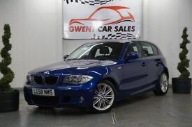 2008 58 BMW 1 SERIES 2.0 118D M SPORT 5DOOR IN BLUE 141 BHP DIESEL