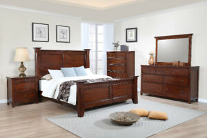 6pcs Solid wood Queen Bed. Last one. All Sold Out.