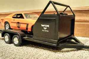 Ertl: 1969 Ford Boss Mustang & Trailer & 1966 Ford F-100 Truck Cambridge Kitchener Area image 4