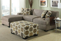 BRAND NEW!  Condo Sized Sandstone Small Sectional Sofa Set!