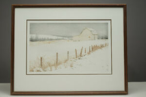 1984 Susan Paterson Print Bissett Road Barn Dartmouth 30/30