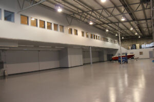 DOUBLE HANGAR WITH V. LGE MEZZANINE AT CYBW FOR SALE OR LEASE
