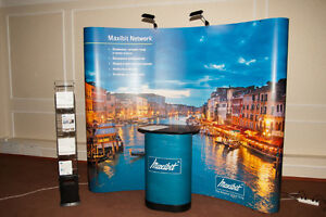 maxibit advertising banner kiosk structure for trade shows