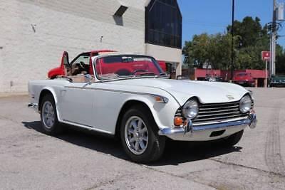 TR250 -- 1968 Triumph TR250  39950 Miles White Convertible I6 2.5L Manual 4-Speed