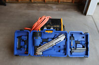 Nail Gun Set with DeWalt Compressor and Hose