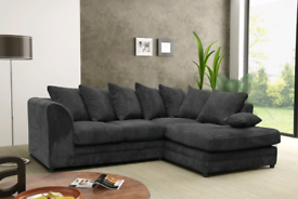 🚚 🚨BRAND NEW Jumbo Cord 3+2 Sofa set or Corner suite 🚘