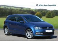 2017 Volkswagen Polo Match Edition 1.2 TSI 90PS 5-speed Manual 5 Door Petrol blu