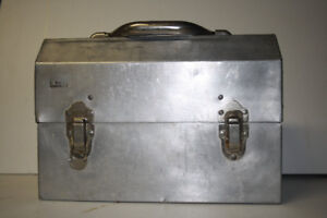Vintage aluminum lunch box.