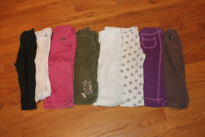 8x Girls Pants 12 months