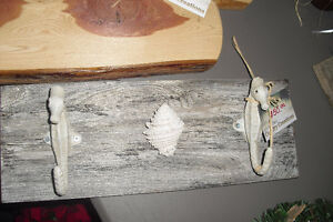 Hand crafted bathroom seahorse hanger