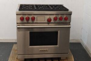 "Cuisiniere au gaz propane 36"" Wolf Dual-Fuel / Valeur 14 000$"