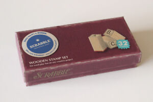Scrabble Rubber Stamps Set  -- Perfect New Condition
