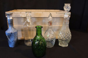wine decanters $2 each or $6 for the lot