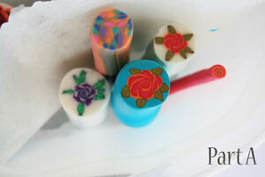 5 original unbaked polymer clay canes made by artist Kitchener / Waterloo Kitchener Area image 3