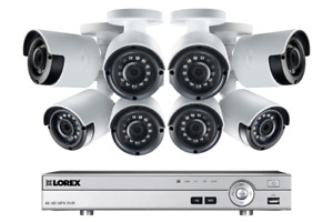 Lorex camera systems with 8 1080p cameras and bonus 120 ft cable