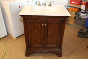 Fairmont vanity, faucet, and mirror.  Excellent Condition!
