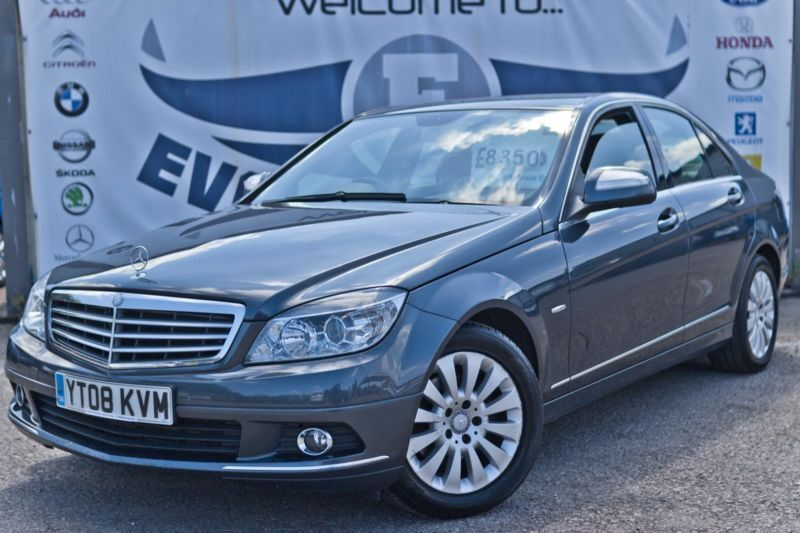 2008 mercedes c class c200 cdi elegance 2 1 diesel new mot finance me today blue in cardiff. Black Bedroom Furniture Sets. Home Design Ideas