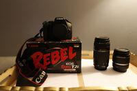 Canon Rebel T2i + 18-55mm f/3.5-5.6 + 75-300mm f/4-.56