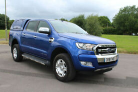 Ford Ranger 2.2TDCi ( 160PS ) 4x4 1 2016 Limited New Shape Blue D/C Truck