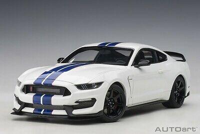 Autoart 72933-1//18 Ford Mustang Shelby gt350r-Lightning Blue-nuevo