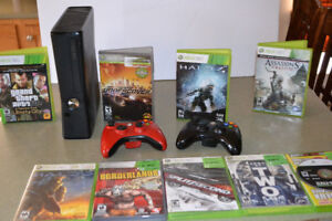 Xbox 360 (250 GB) with games