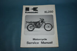 1980-84 Kawasaki KL250 Service Shop Repair Manual Factory