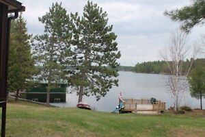 Beautiful waterfront cottage for Rent at Nipissing Lake