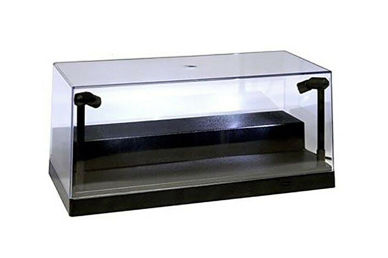 Collectible Display Case w. LED lights & Riser for 1/24 1/64