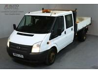 FORD TRANSIT 2.2 350 DRW 4D 124 BHP LR LWB DOUBLE CAB 6 SEAT TIPPER