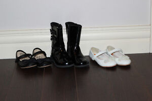 3 Pairs of Size 7 Toddler Girls Shoes