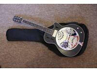 Harley Benton Custom Line N-150CE BK Resonator guitar