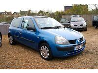 RENAULT CLIO AUTHENTIQUE 2001 Wheel Nut Breaking For Spares Parts Blue