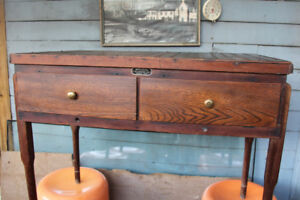 Rustic Redwood Desk converted from a Chick Incubator