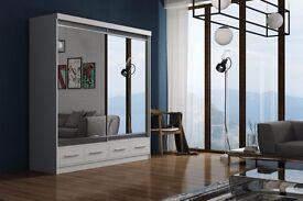 💥❤💗💖BRAND NEW MARGO WARDROBE💥❤💗💖BRAND NEW Full Mirror Sliding Wardrobe w/ Shelves, Hanging💗💖