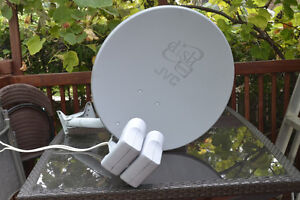 Two Satellite antenna