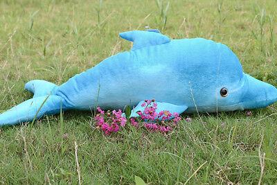 "Blue dolphin 30"" Giant stuffed plush animal - Giant Dolphin Stuffed Animal"
