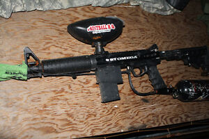 BT OMEGA WORKS Paintball package, Cool gun with air tank mask, Kingston Kingston Area image 5