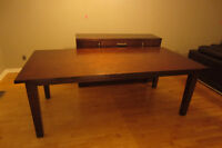 Natural wood Dining Table 84''X42'' for 8 pers,Excellent condit.
