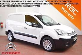 2014 Citroen Berlingo 1.6HDi L1 625 LX-1 OWNER- SAT NAV-3 SEATER-