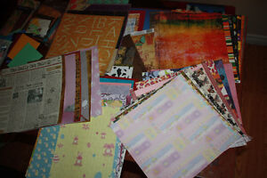 57 large scrapbooking sheets