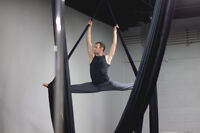 Aerial Silk Fitness Class! Try an aerial fabric circus class!