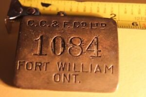 Old  FORT WILLIAM ID Metal Tag / Badge (VIEW OTHER ADS) Kitchener / Waterloo Kitchener Area image 2