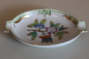 Herend Porcelain Ashtrays, Flowers, 7785, Made in Hungary