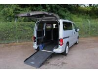 2011 Nissan NV200 1.5 SE DCi 89 TURBO DIESEL WHEELCHAIR ADAPTED 3 SEATER 6 do...