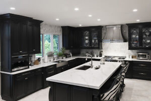 granite countertop and cabinet
