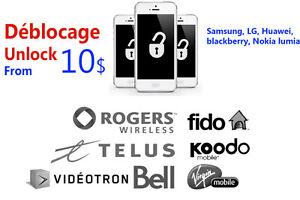 Déblocage téléphone Unlock phones 10$