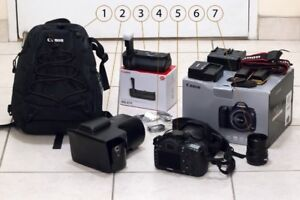 Canon 5D Mark III Camera body with accessories and BONUS LENS