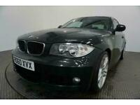 2010 60 BMW 1 SERIES 2.0 120D M SPORT 2D AUTO-HEATED BLACK BOSTON LEATHER-PARROT